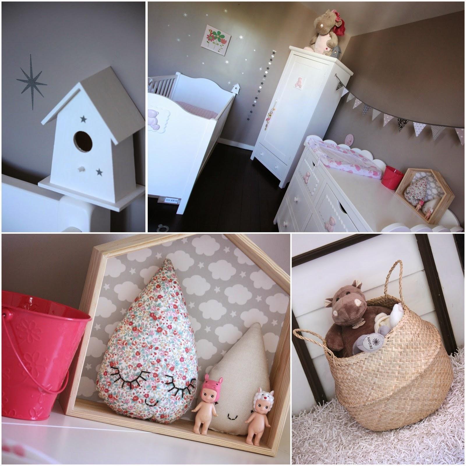 Déco chambre d enfant dans les tons de taupe et rose