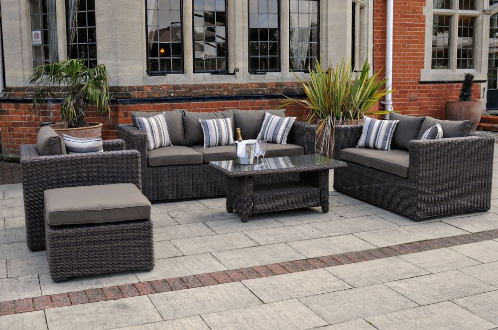 Decorate Your Home With #THE_KENSINGTON   4 Piece Luxury Rattan Sofa Set  With Coffee Table