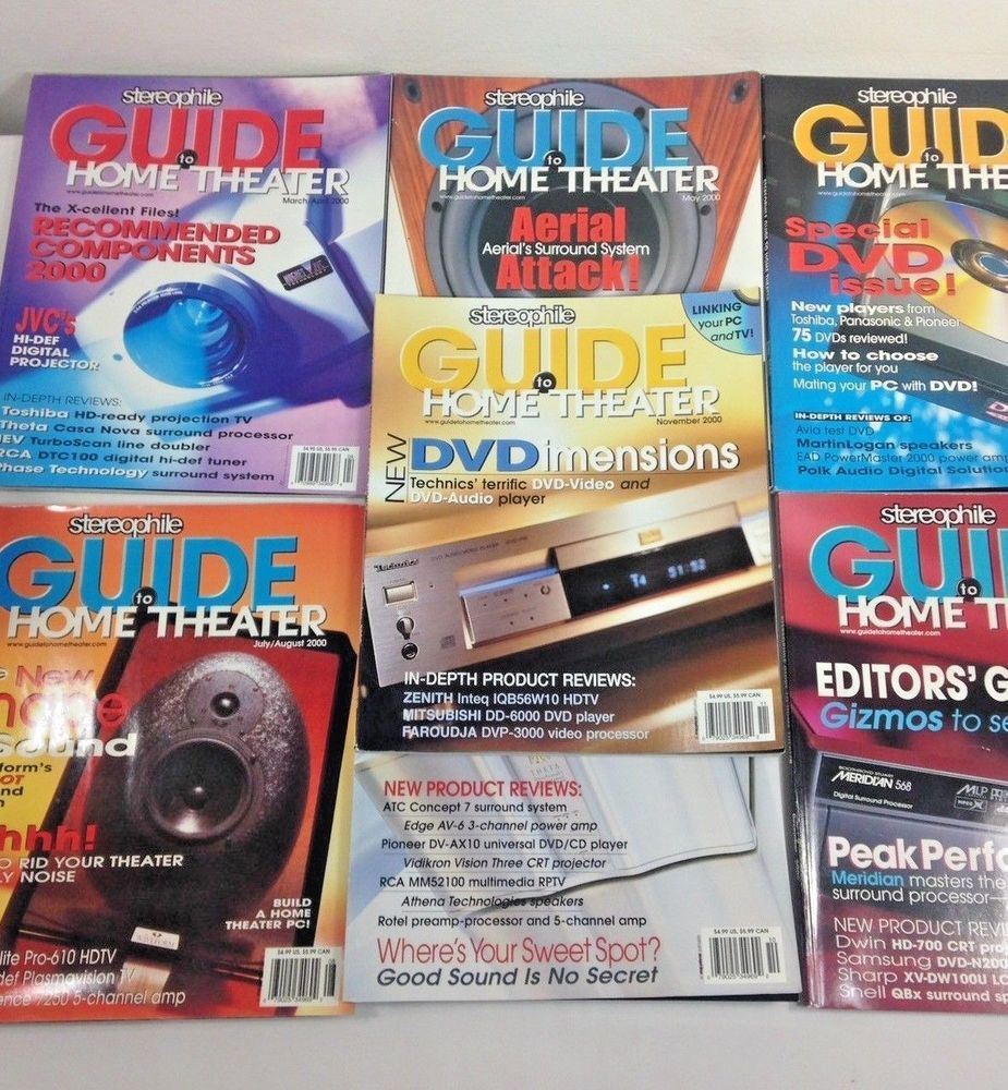stereophile guide to home theater magazine back issue 2000 lot rh pinterest com Stereophile Recommended Components Stereophile Magazine Subscription
