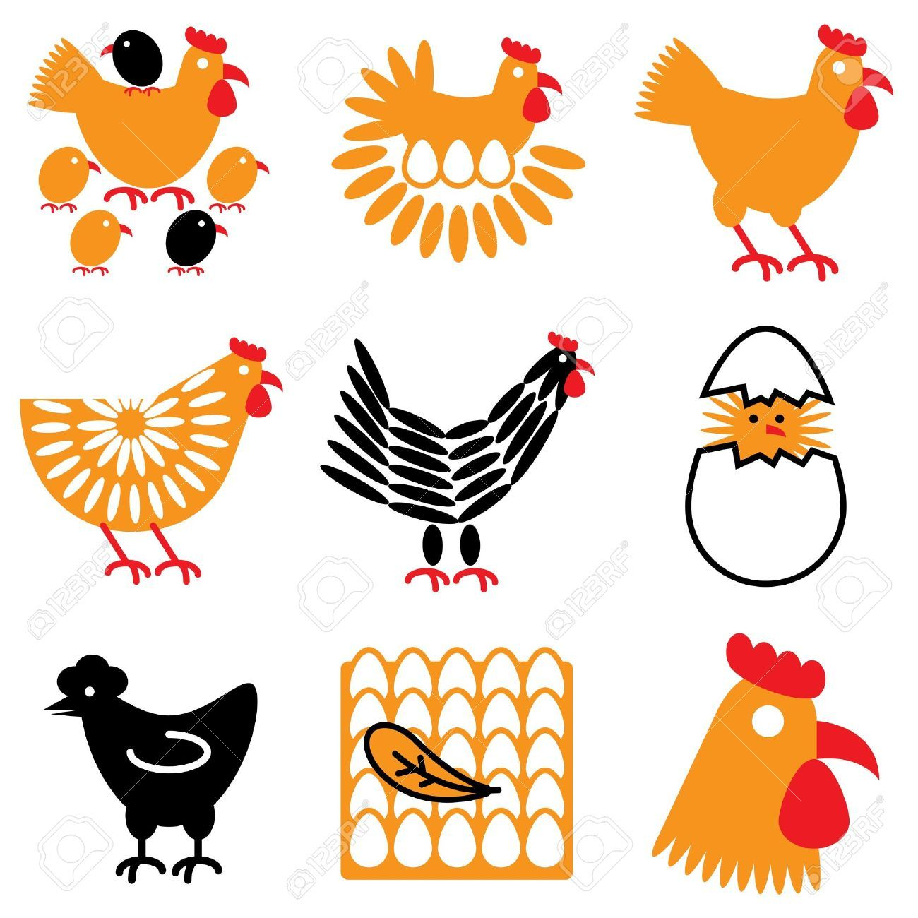 Stock Vector in 2020 Chicken icon, Halloween vector