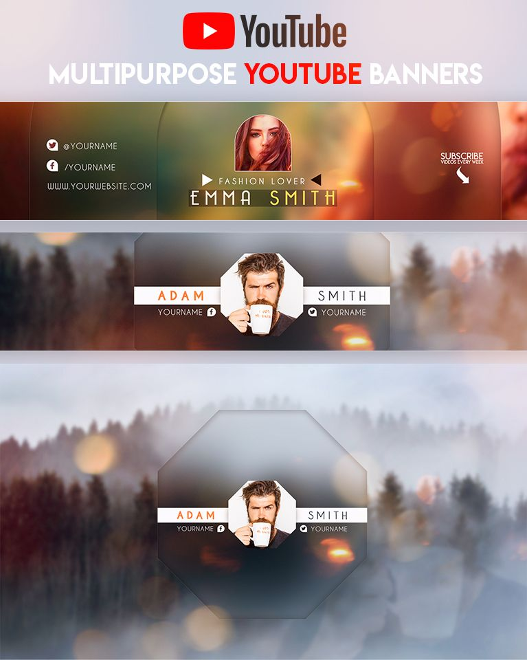 Creative MultiPurpose YouTube Banner by youtubebanners | Top