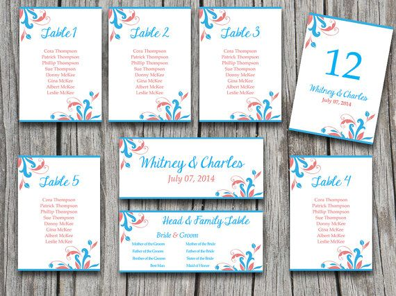 Wedding Seating Chart Template  - number chart template