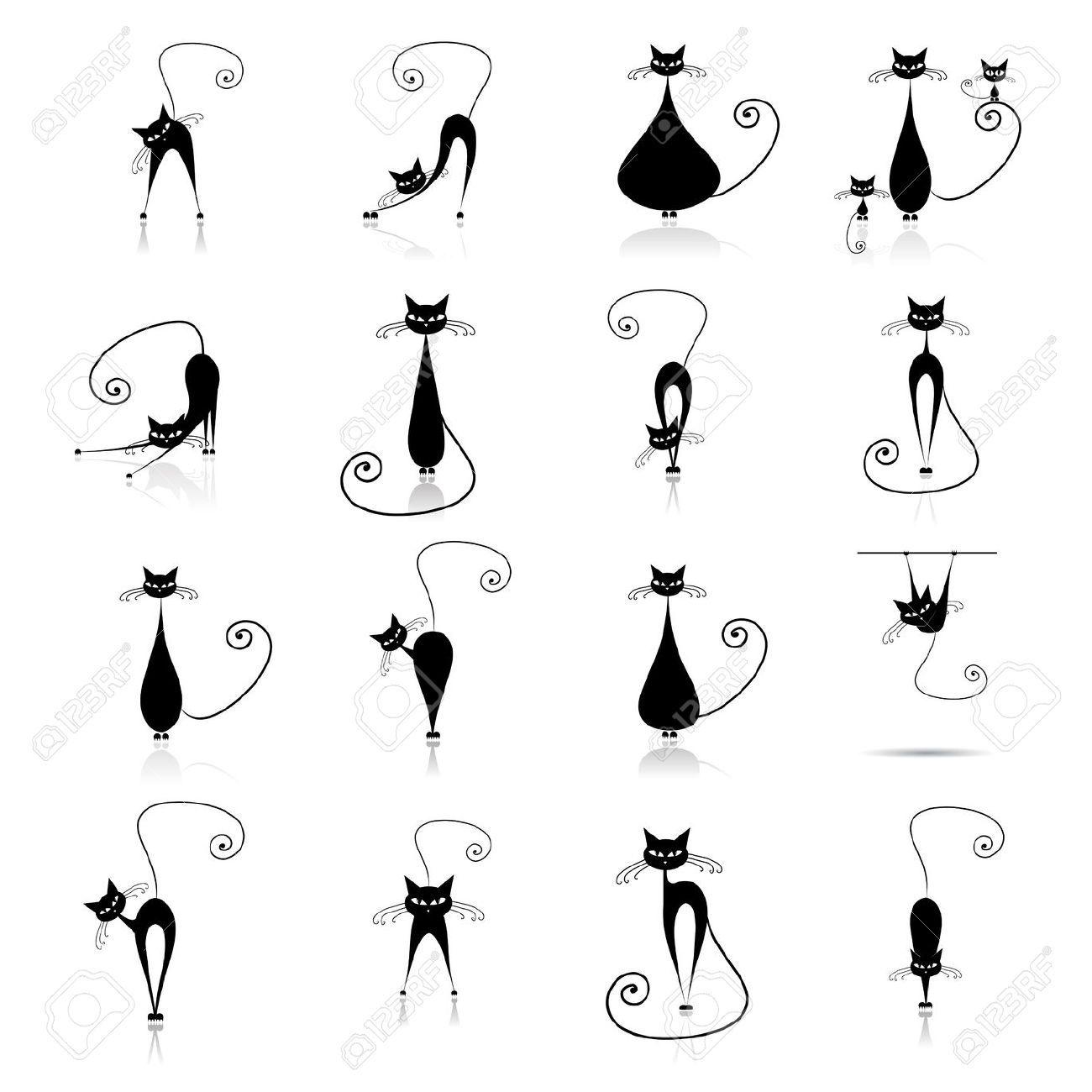 cica grafika Google keresés Macska tetoválás, Rajzok