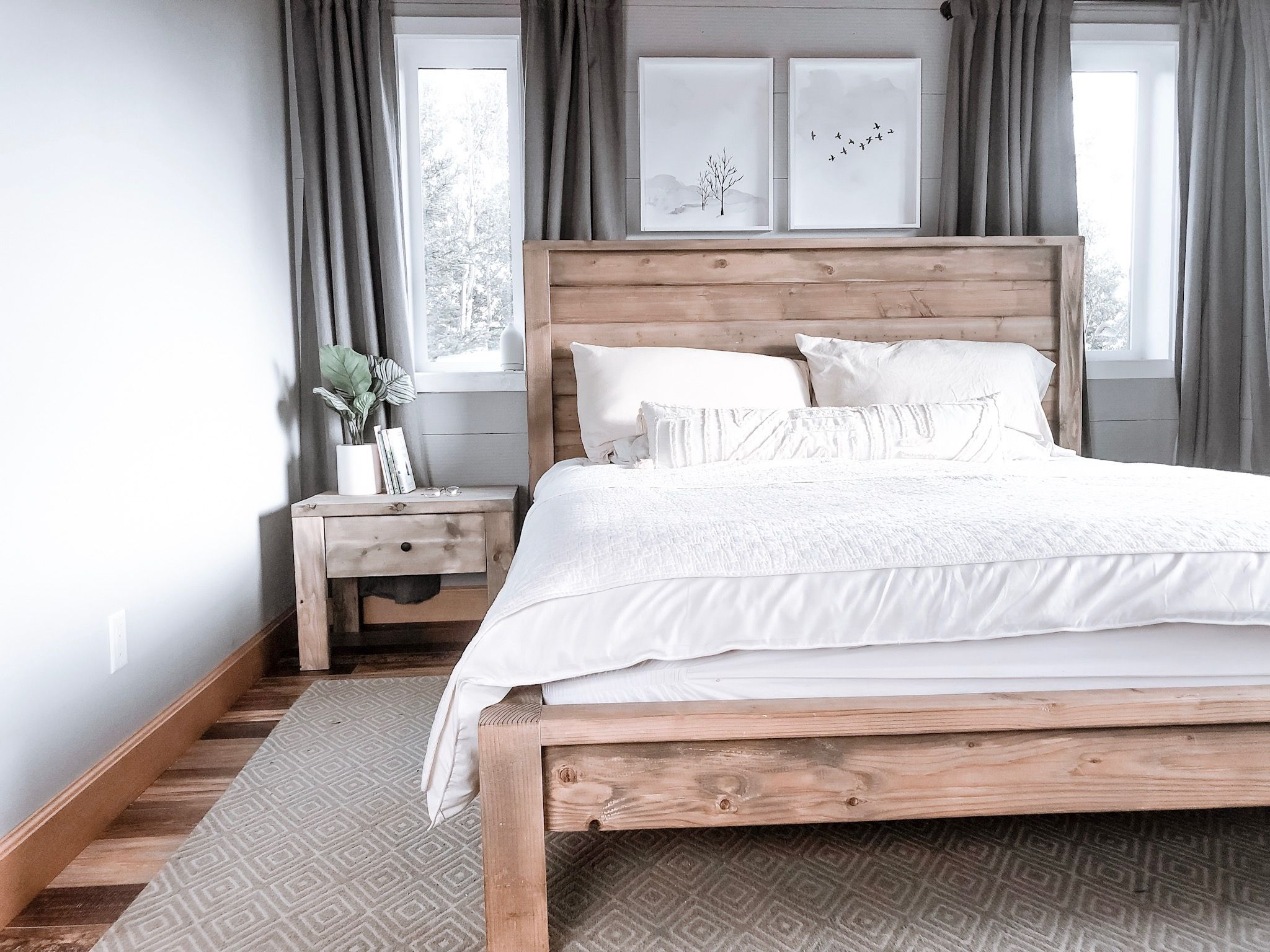 Modern Farmhouse Bed Frame Bed frame, Farmhouse style
