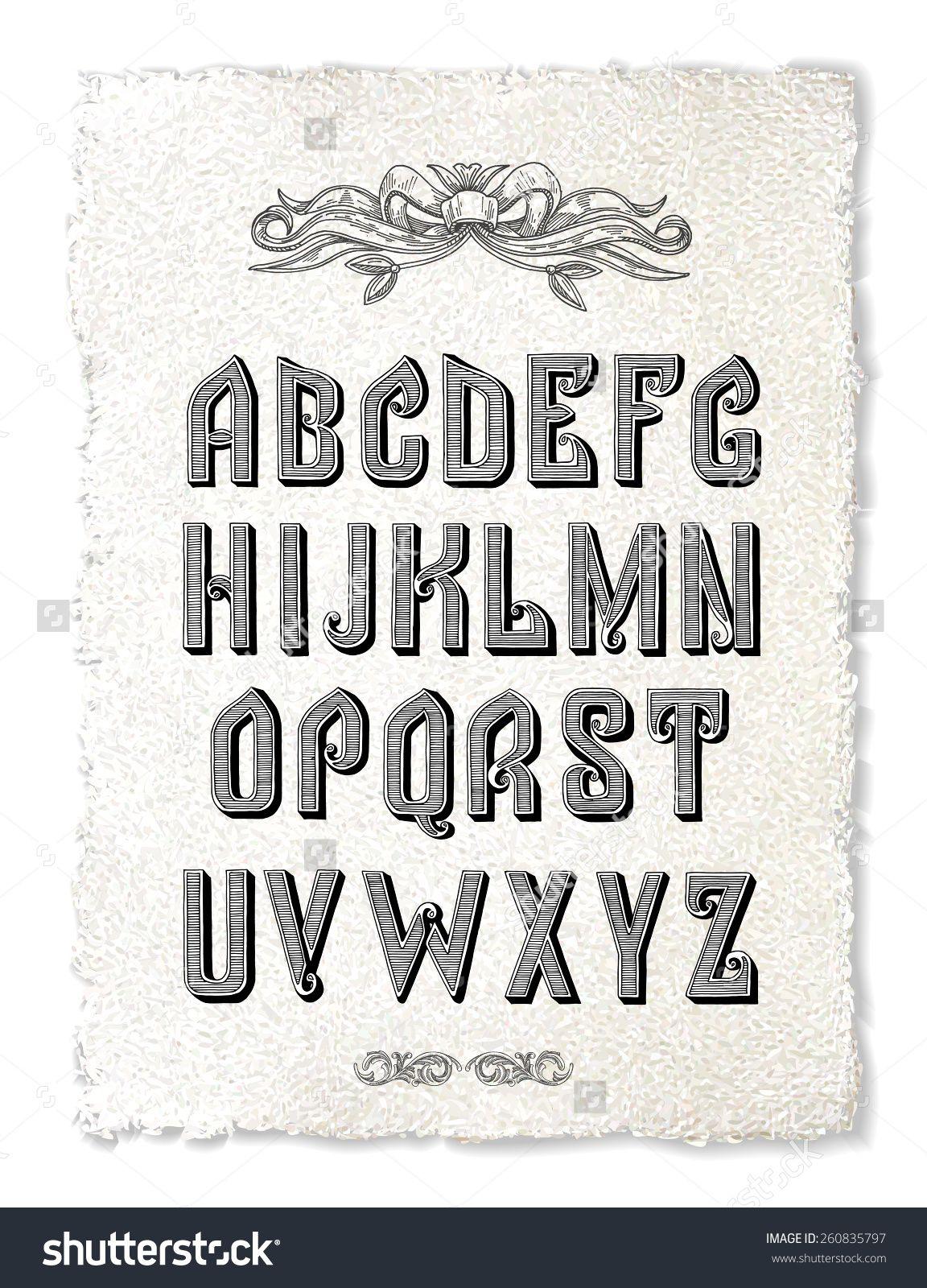 Vector font, alphabet, vector Fonts alphabet, Alphabet