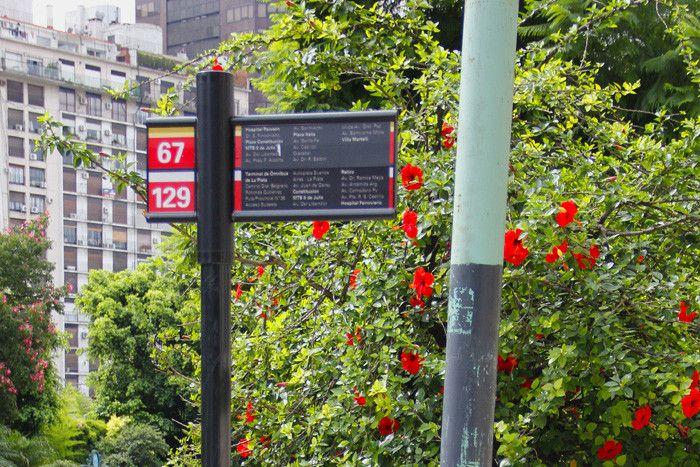 Nuevos postes de parada de colectivos en la Ciudad
