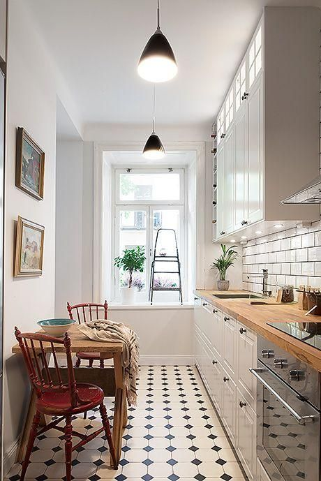 Cómo decorar cocinas alargadas Cocinas, Cocina estrecha y Futura casa