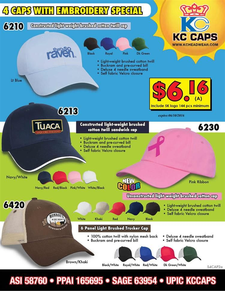 386988c9b777f Caps and Hats from KC Caps   Promotional Product Flyers   Custom ...