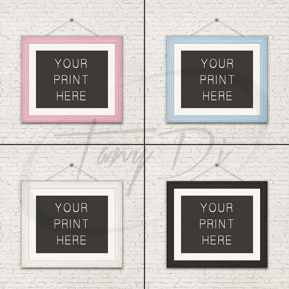 Set 8x10 White Frame on Nursery Baby Blue Pink Wall | Styled frame ...