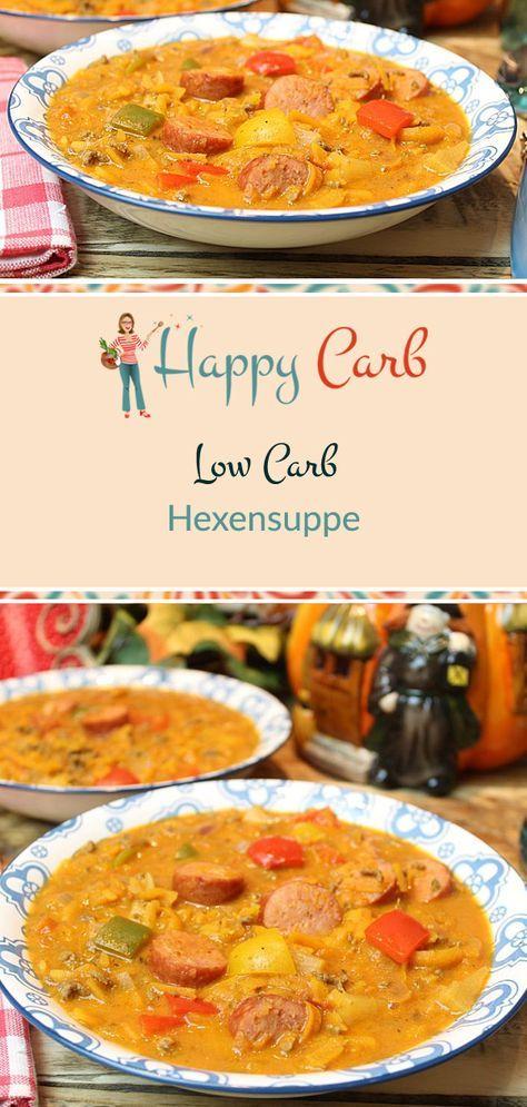 Hexensuppe Abrakadabra lecker bist du Low Carb ohne Kohlenhydrate Glutenfrei Low Carb Rezepte Low Carb Suppen Low Carb Eintöpfe Zuckerfrei Gesunde Rezepte