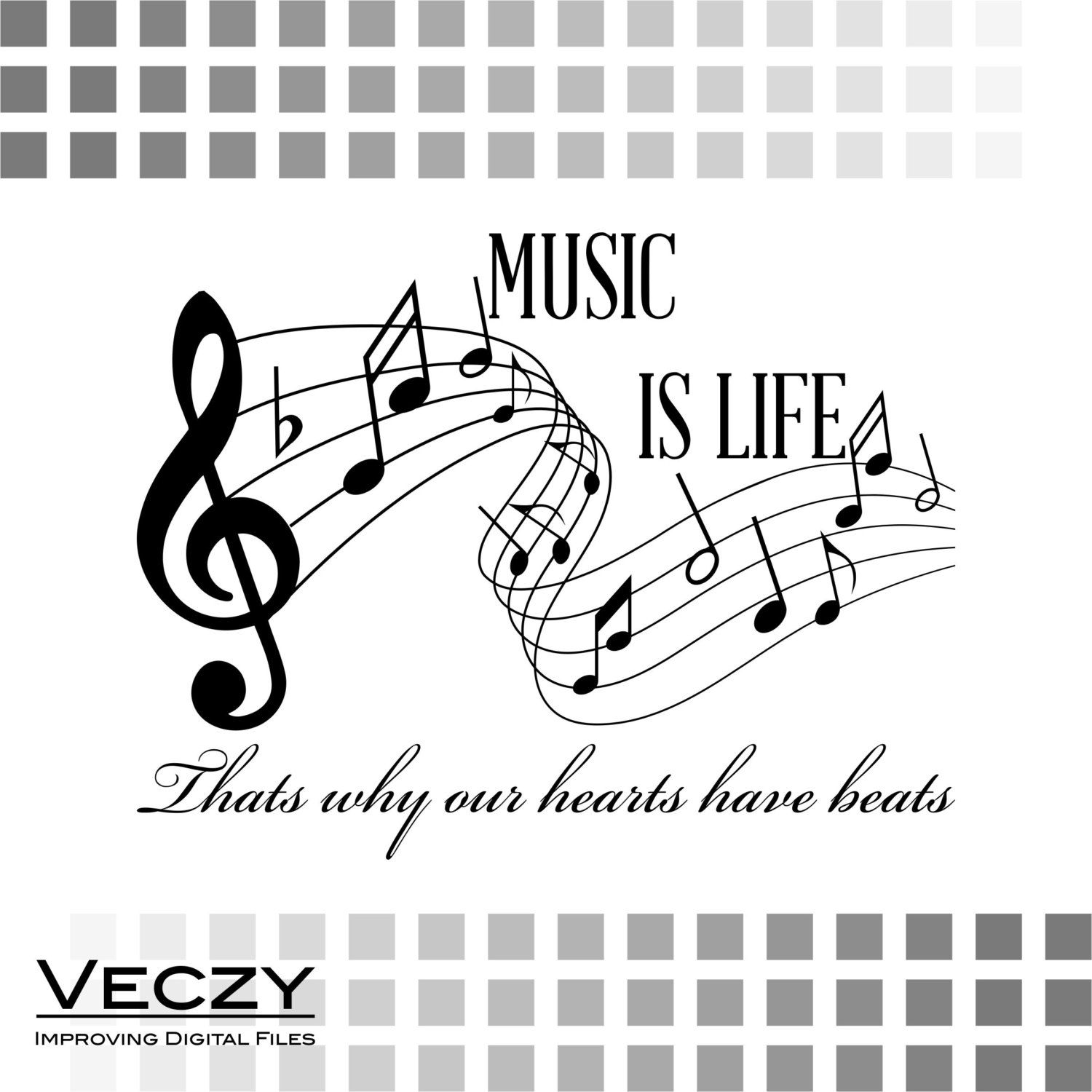 Music is life, music svg, svg quotes, svg files for cricut