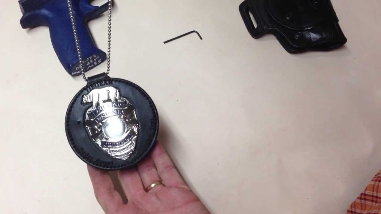 Insignia badge holster and badge holder - YouTube