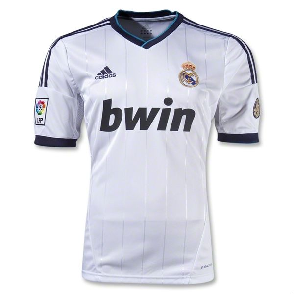 hot sales fc765 fc081 12/13 Real Madrid White Home Soccer Jersey Shirt Replica ...