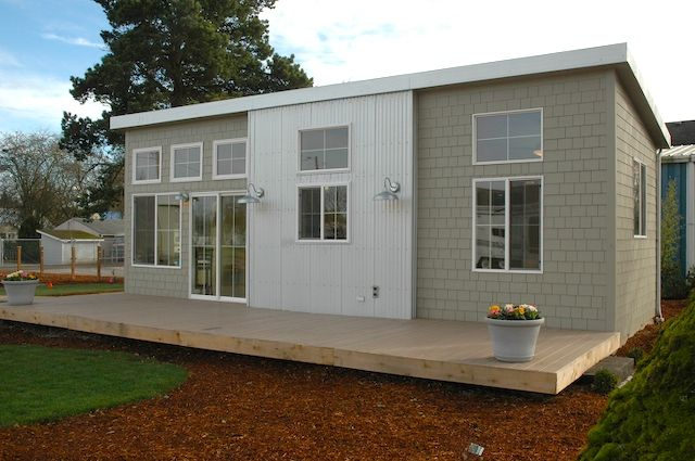 A very attractive and functional modern small Park Model home  With Energy Starr appliance
