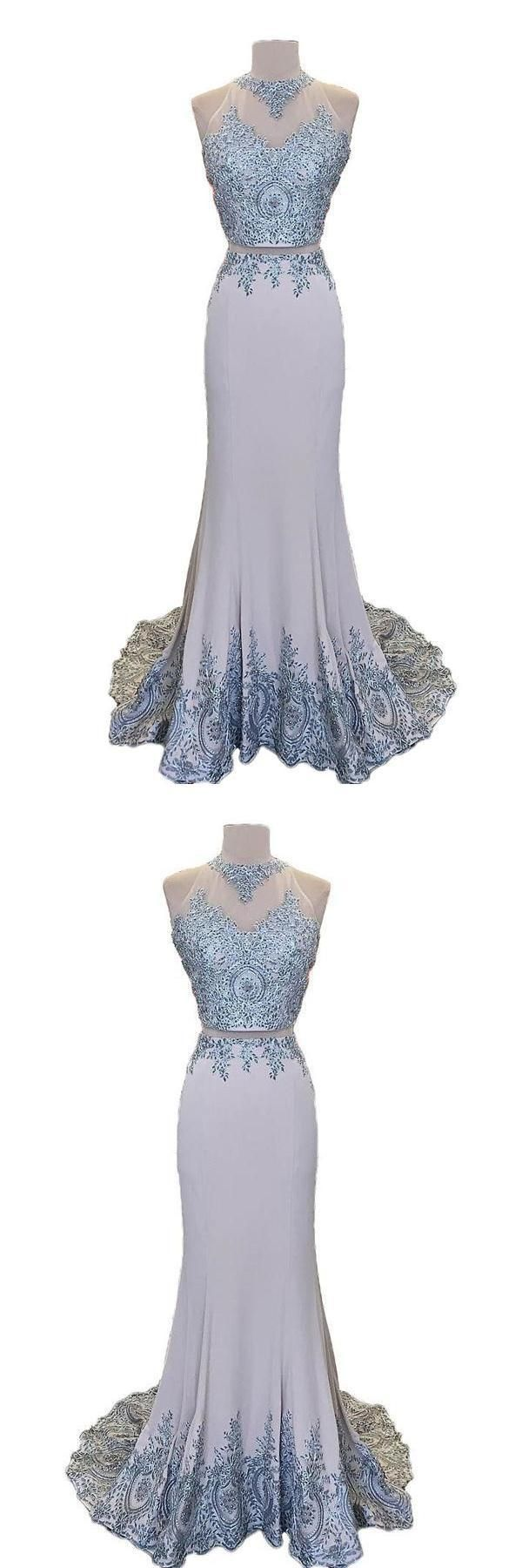 Mermaid prom dresses two pieces prom dresses cheap prom dresses