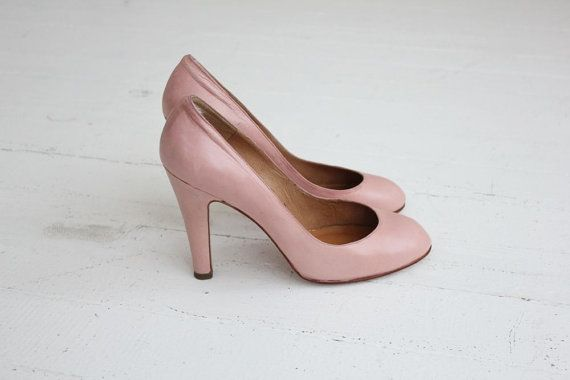 light pink heels / Norma Kamali shoes / pink high by allencompany