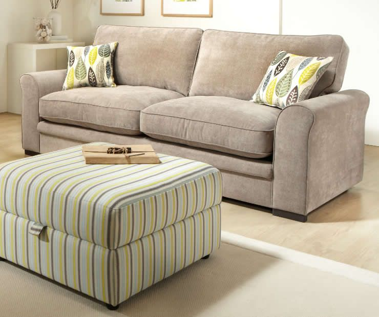 Scan Thor Domo Sofa Elise 4 Seater Highback Sofa Manor