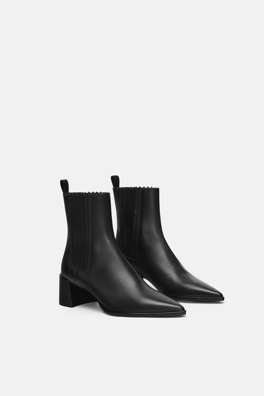 BOTÍN TACÓN PIEL in 2019 | sHoEs⛸ | Leather high heels