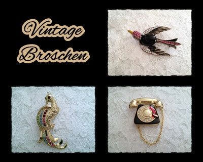 Broschen - *Vintage* Broschen 125-34+35+36 - ein Designerstück von raritaeten-kammerl bei DaWanda