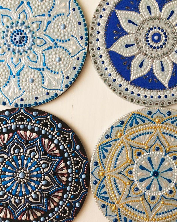 Mandala Artist Hand Paints Mesmerizing Patterns On Ceramic Plates And Mugs Mandala Art Mandala Artwork Mandala Painted Rocks