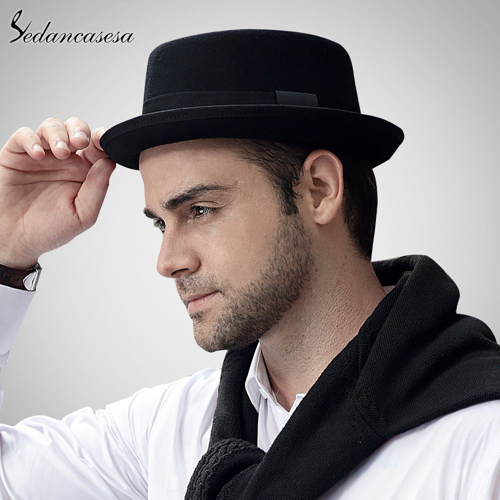 0cb69ff87c6d4 Men Fedora Hat With Australian Wool High Quality Pork Pie Hat for Classic  Church Wool Felt Hat Oh Yeah  shop  beauty  Woman s fashion  Products  Hat