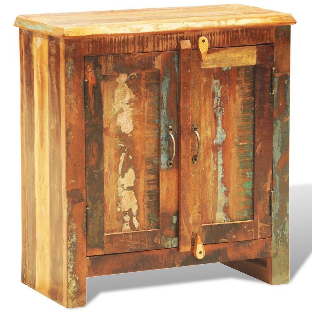 Reclaimed wood cabinet vintage cupboard sideboard antique storage
