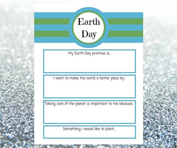 DIGITAL DOWNLOAD* Earth Day Printable Worksheet *Great for the kids