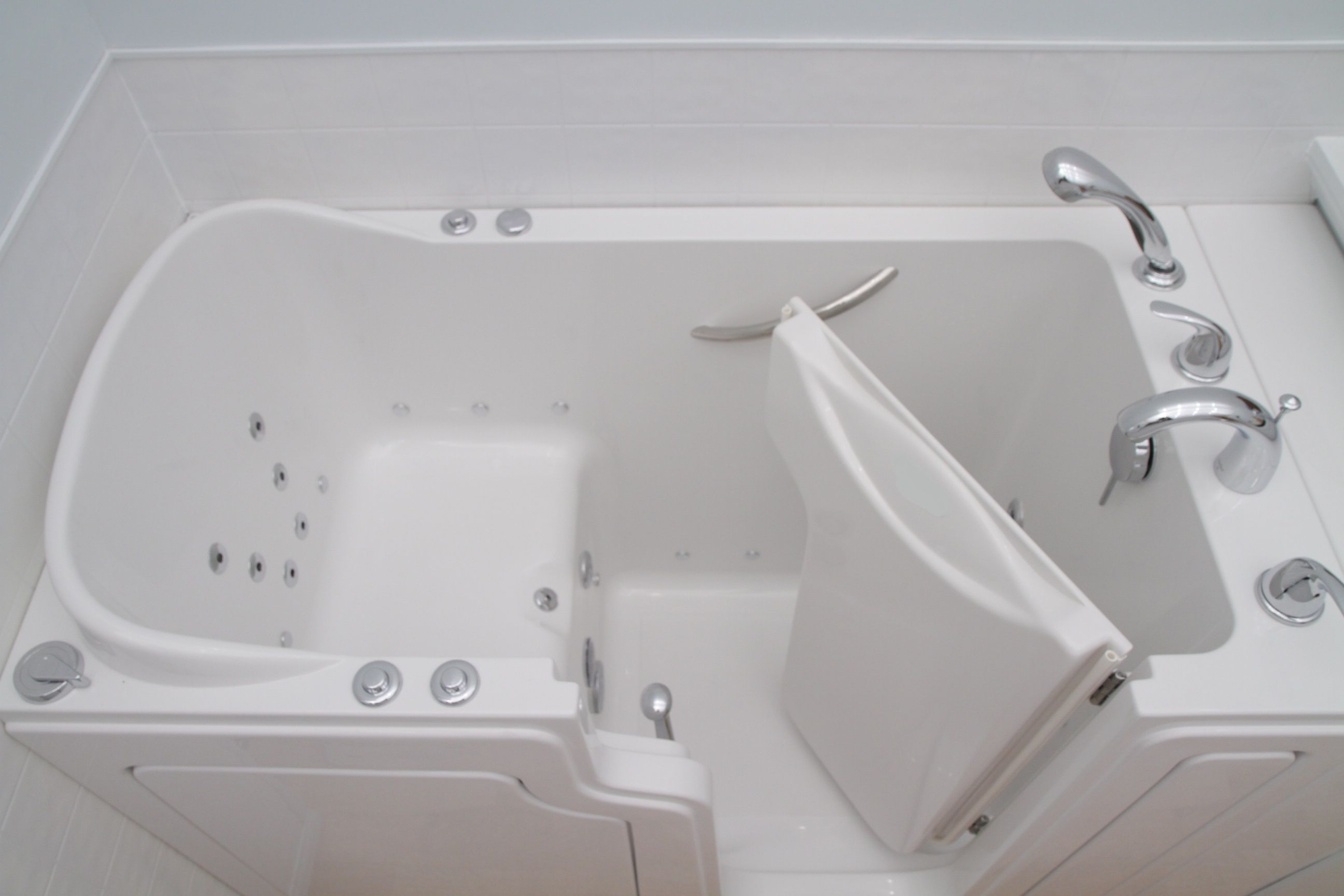 It can fit in the same place of a standard bathtub, without messing ...