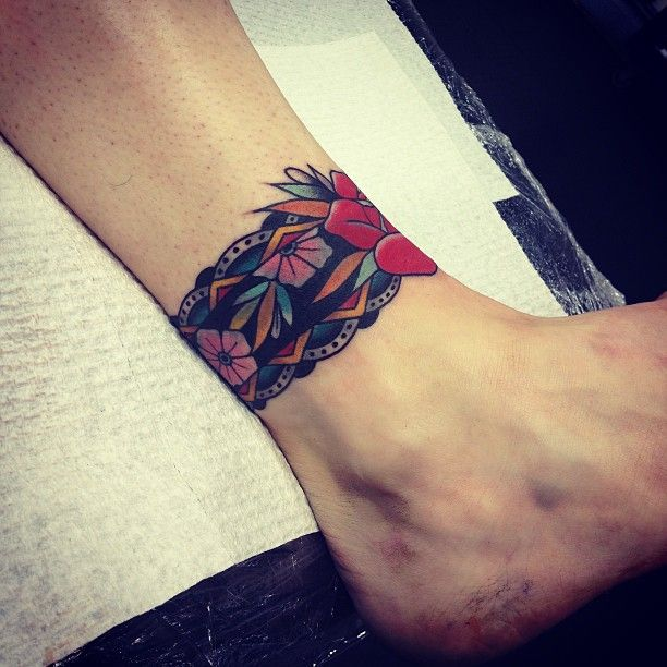 Kirk Jones Cover Up Of A Celtic Ankle Band Done At Goodlucktattoo Webstagram The Best Instagram Viewer Leg Tattoos Tattoos Wrist Tattoos