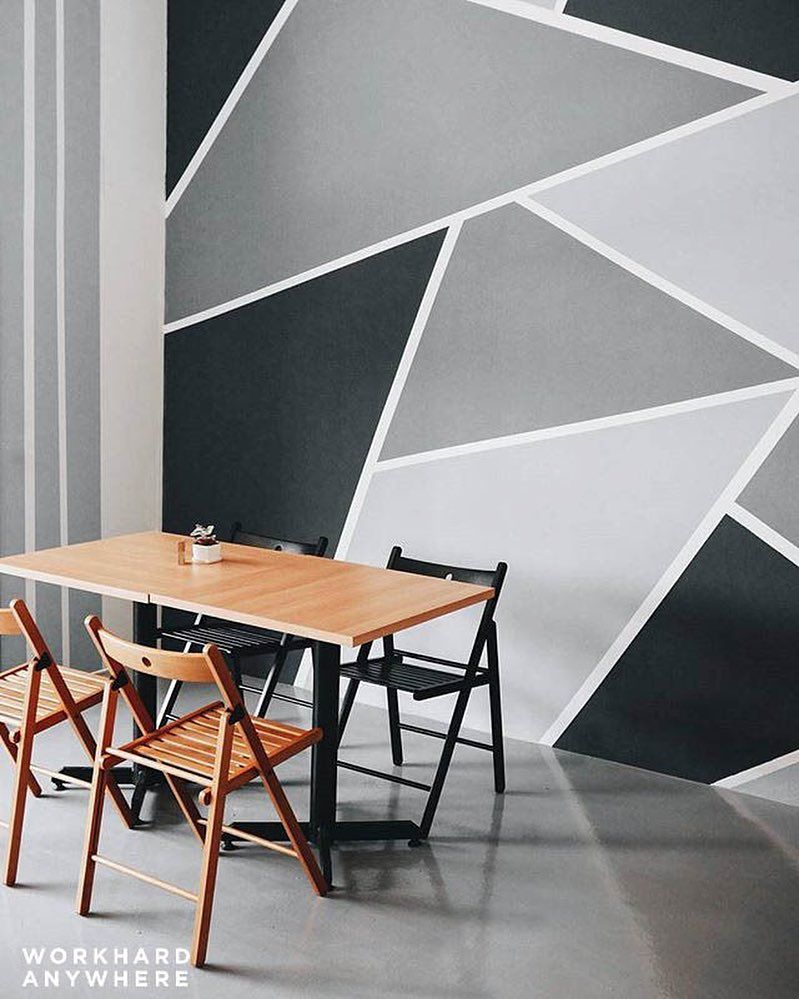 Shades Of Gray Soft Launch Cafe Kuala Lumpur Malaysia By Smashpop Download Our App To Wall Painting Decor Creative Wall Decor Bedroom Wall Designs