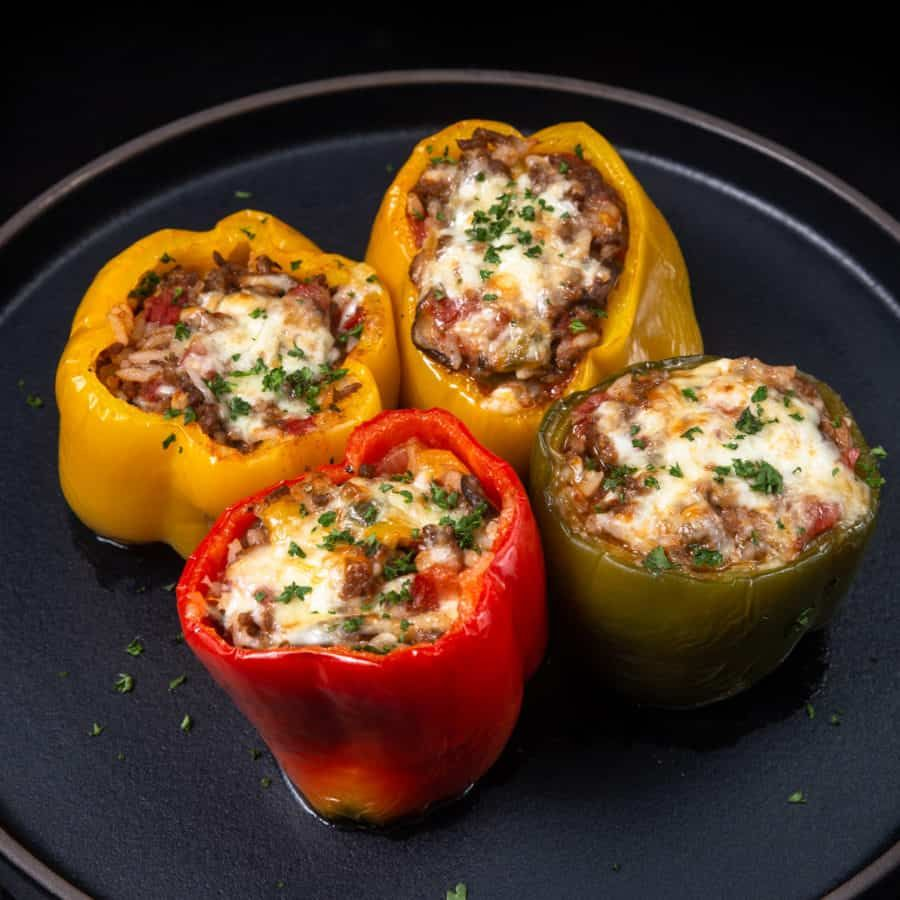 Instant Pot Cheesy Stuffed Peppers Tested By Amy Jacky Recipe In 2020 Stuffed Peppers Cooking Stuffed Peppers Pressure Cooker Recipes