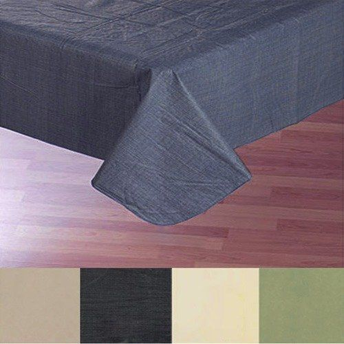 Sage 52 X 90 Oblong Solid Color Vinyl Flannel Back Tablecloth Sage Carnation Home Fashions Table Cloth Flannel Solid Color