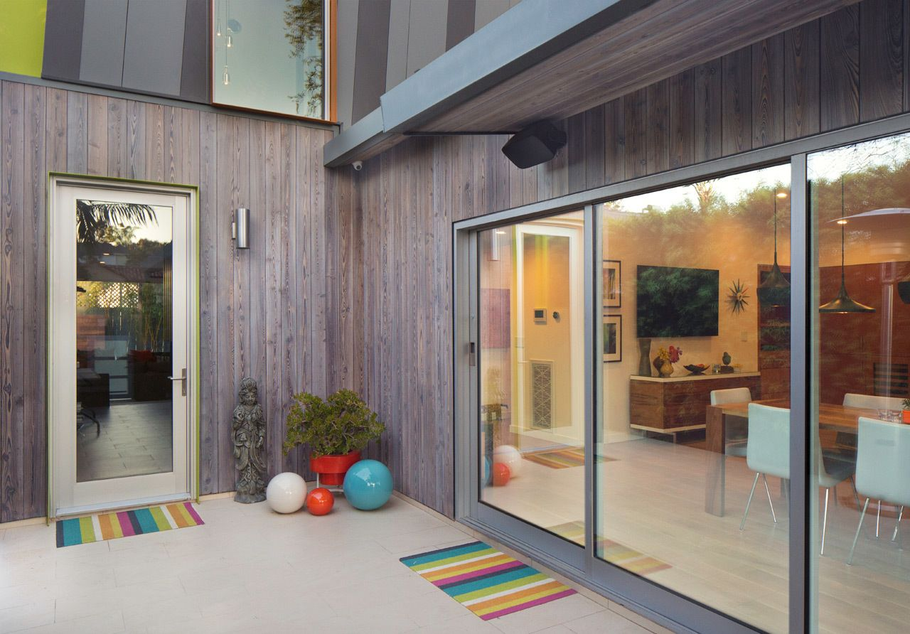 Exterior modern siding window design  los angeles residence by resawn timber co  los angeles angeles