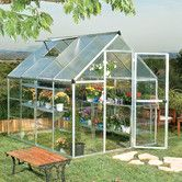 """Found it at Wayfair - Hybrid 6'10"""" H x 6'8"""" W x 8'2"""" D Polycarbonate 4mm Greenhouse. Man, I want this SOOO bad!!!! It would be PERFECT!"""
