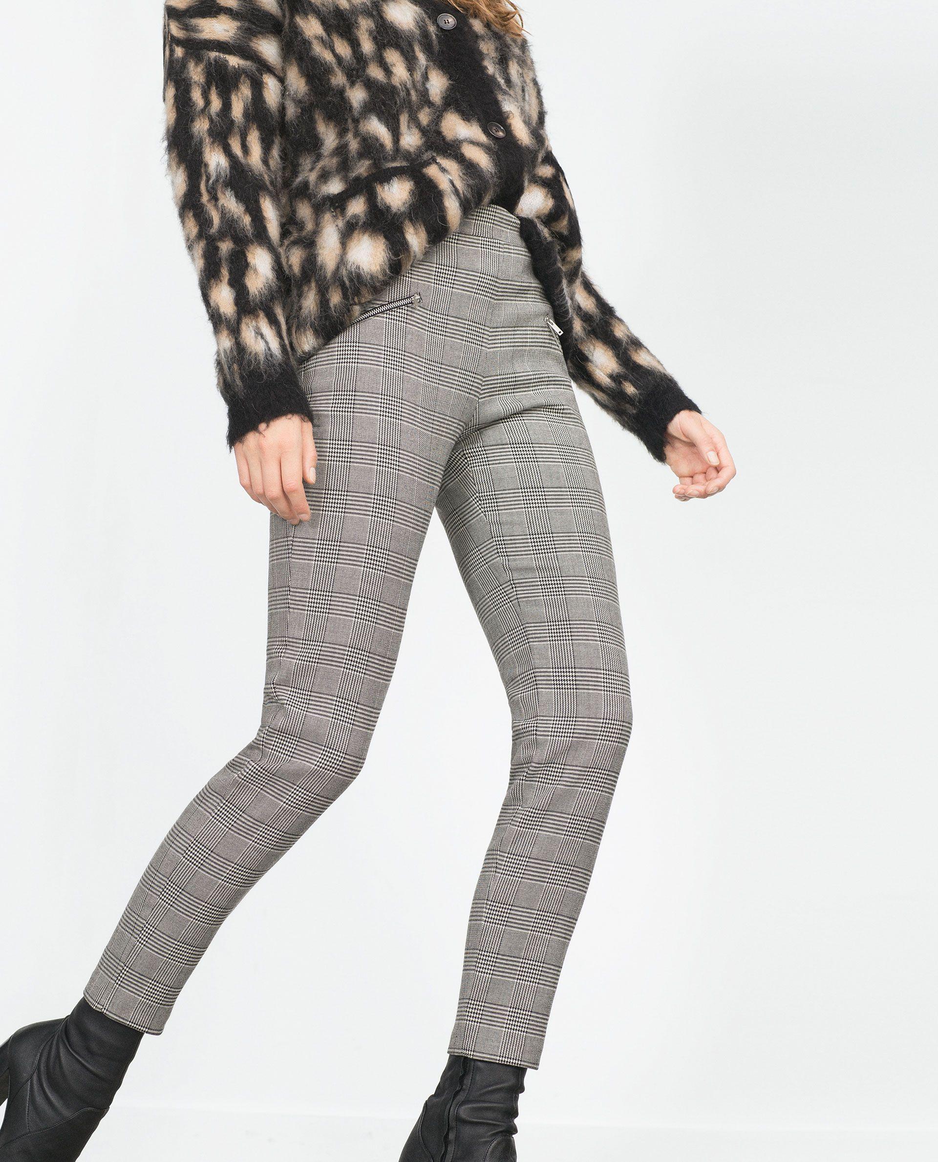 PANTALON PITILLO MULTI CREMALLERAS - Ver todo - Pantalones - MUJER | ZARA España