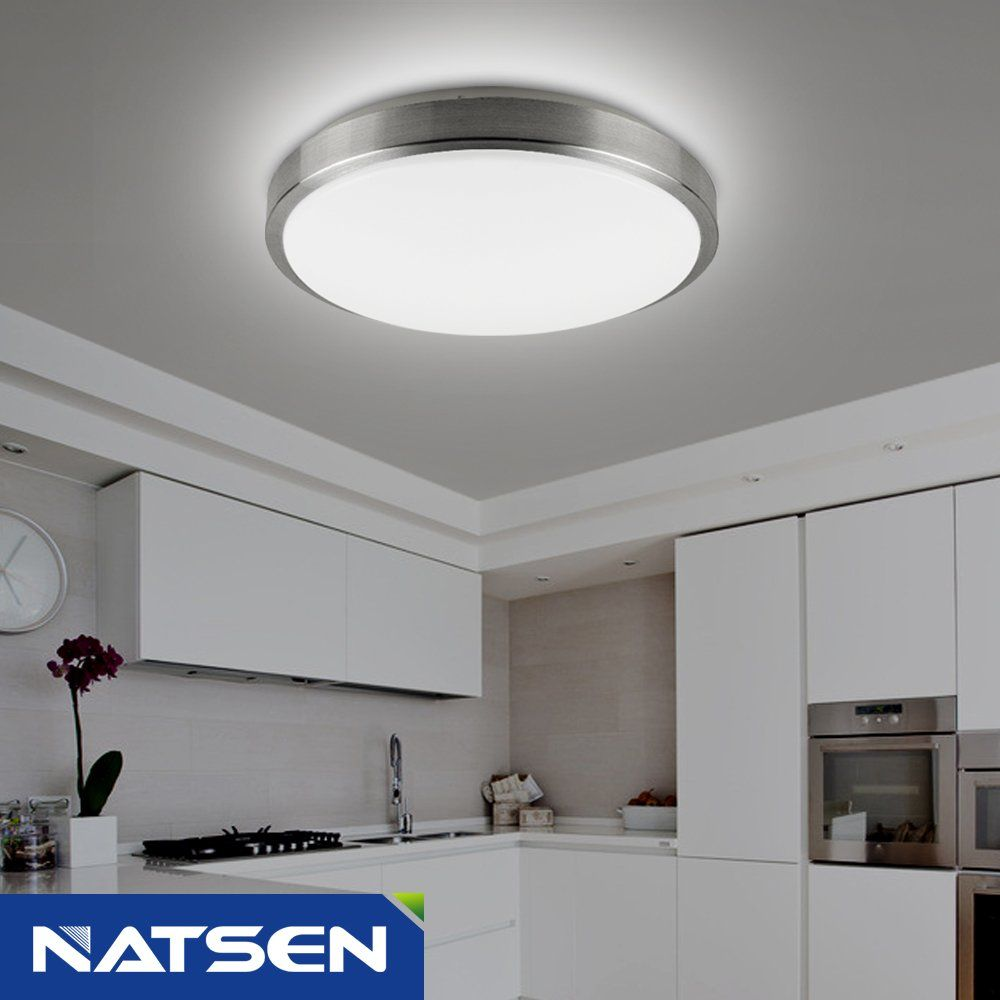NATSEN Modern ceiling light fixture, 12W LED Ceiling lights, Flush ...