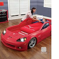 Step2 Corvette Toddler To Twin Bed With Lights Step2 Toys R Us Kids Car Bed Twin Car Bed Car Bed Frame