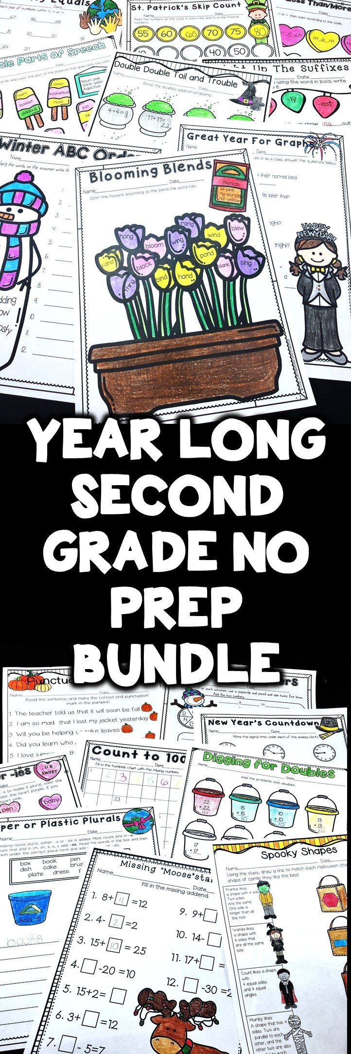 Year Long Literacy and Math Second Grade Distance