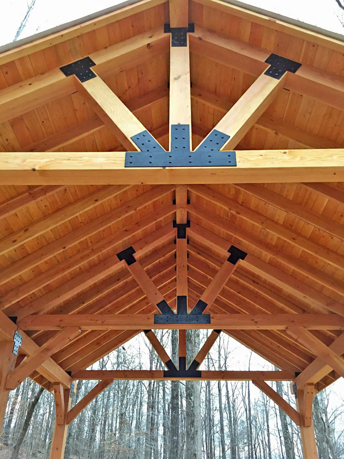The Thick Timber Toledo Wood Pavilions Forever Redwood Backyard Pavilion Outdoor Wood Projects Covered Patio Design