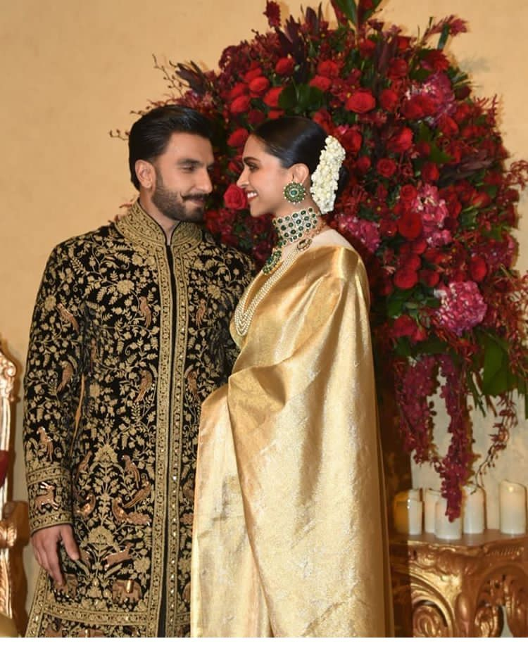 Deepika Padukone And Ranveer Singh Look Every Bit Royal As They Kickstart Their Wedding Reception Hungryboo Bollywood Wedding Life After Marriage After Marriage