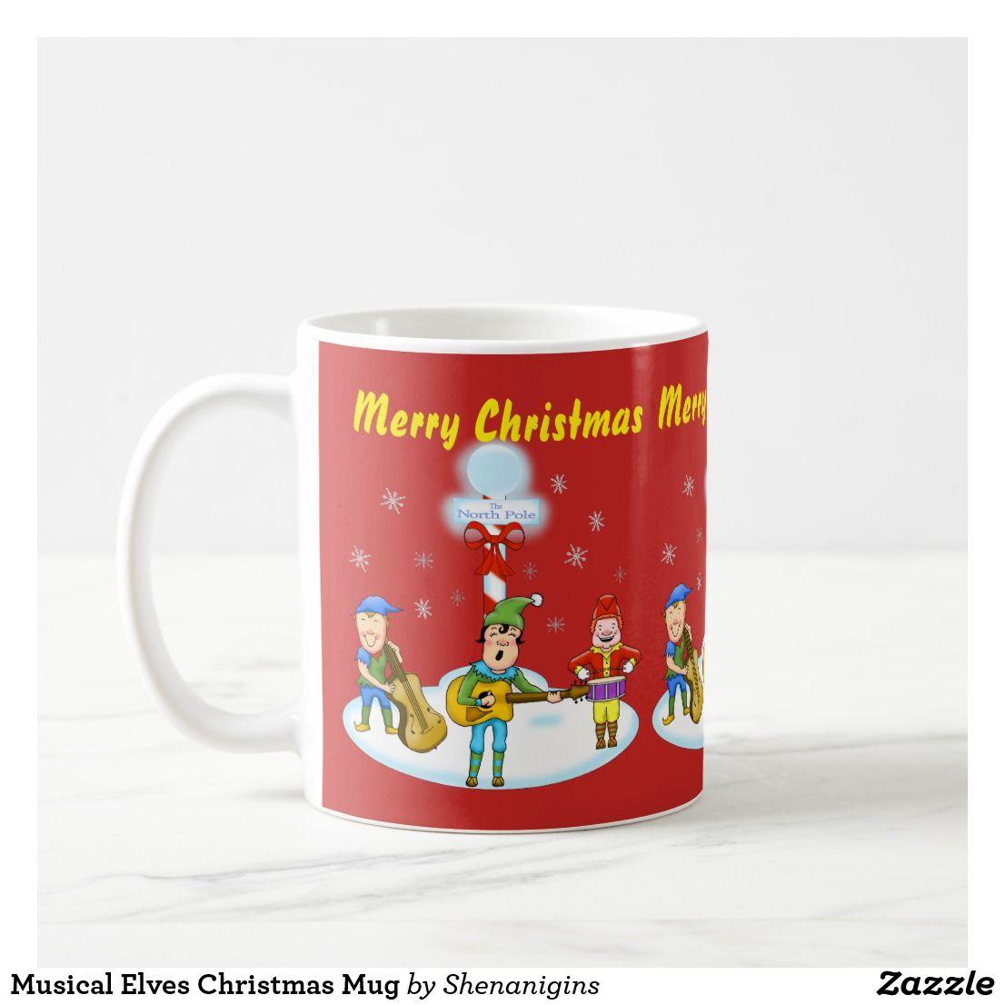 Musical Elves Christmas Mug | Christmas | Pinterest | Elves