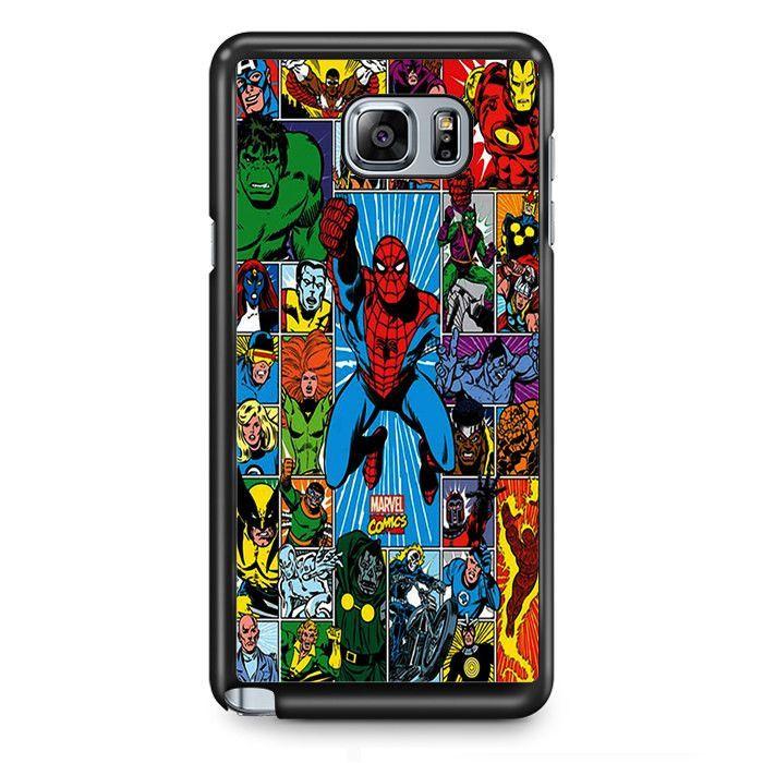 Marvel Superhero All Superhero Comics TATUM-6958 Samsung Phonecase Cover Samsung Galaxy Note 2 Note 3 Note 4 Note 5 Note Edge