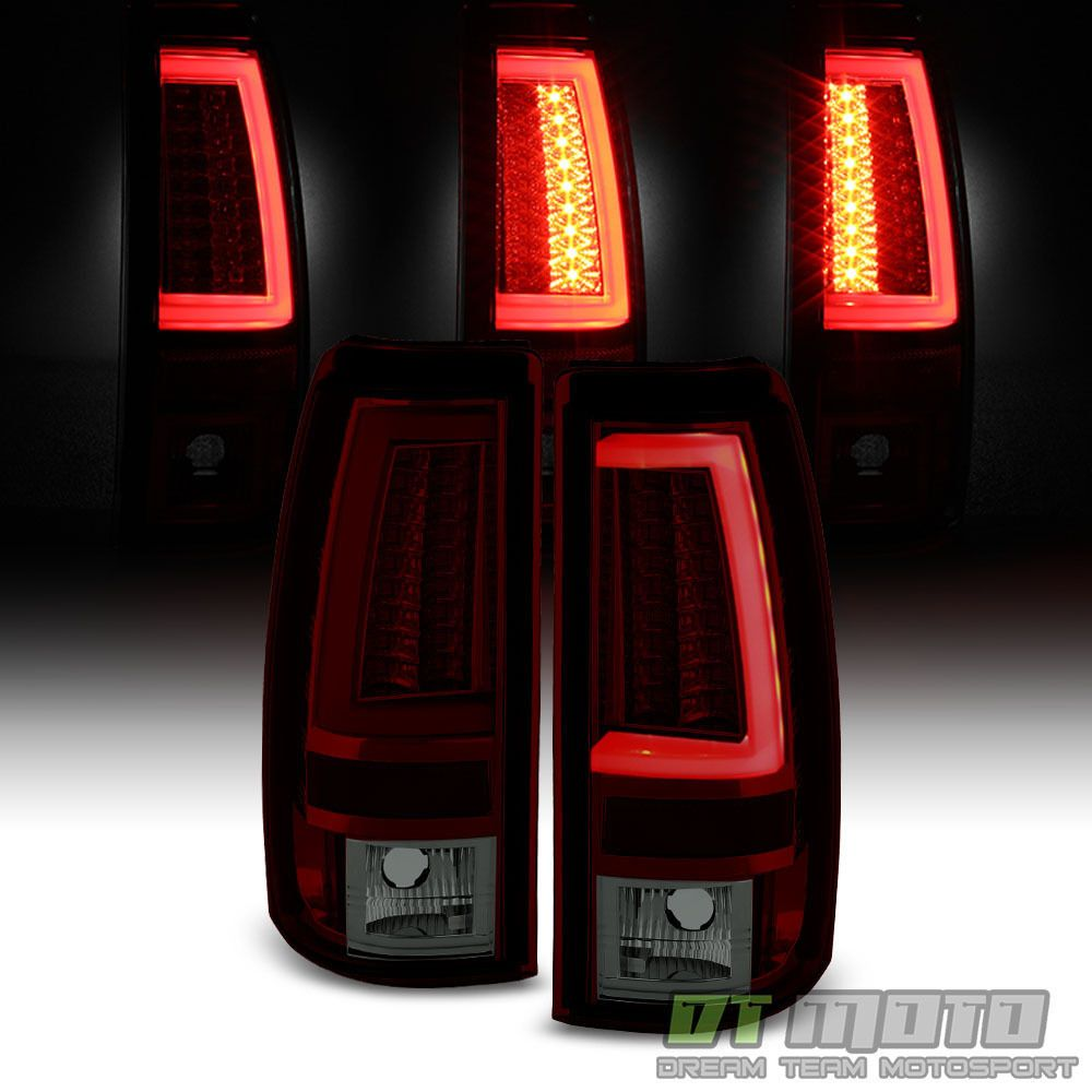 2003 2004 2005 2006 Chevy Silverado Red Smoke Led Tube Tail Lights Brake Lamps Chevy Silverado 2006 Chevy Silverado Tail Light
