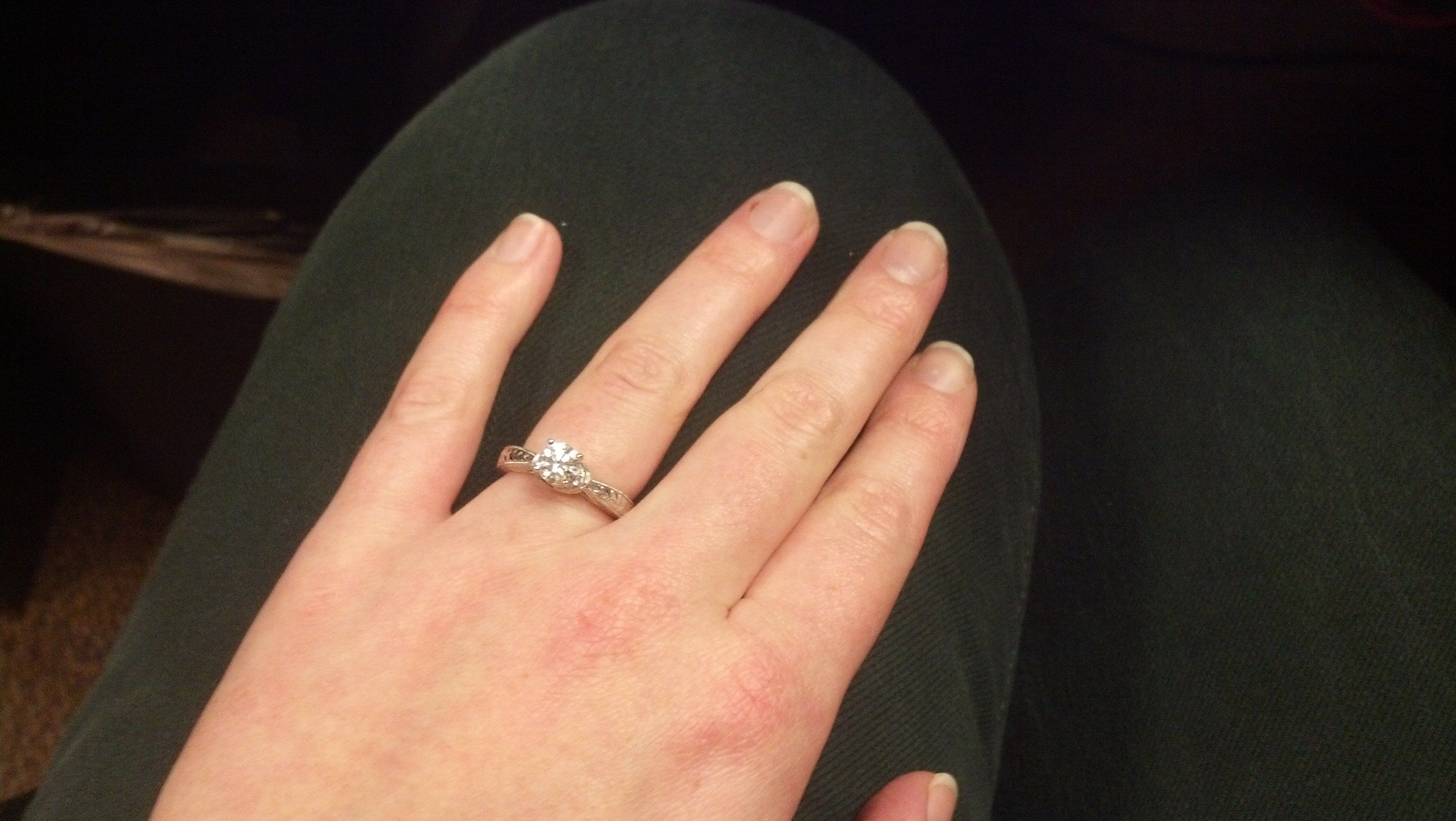 Carat Size For Sz 5 Ring Finger The Knot Community