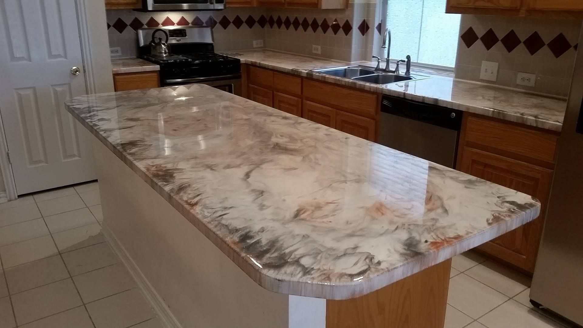 Gallery Of Finished Diy And Professional Epoxy Countertops Leggari Epoxy Countertop Countertops Epoxy