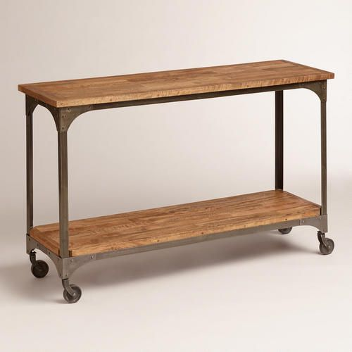 Wood And Metal Aiden Console Table: Hmmm...coffe Station/microwave Station?? Appliances On The