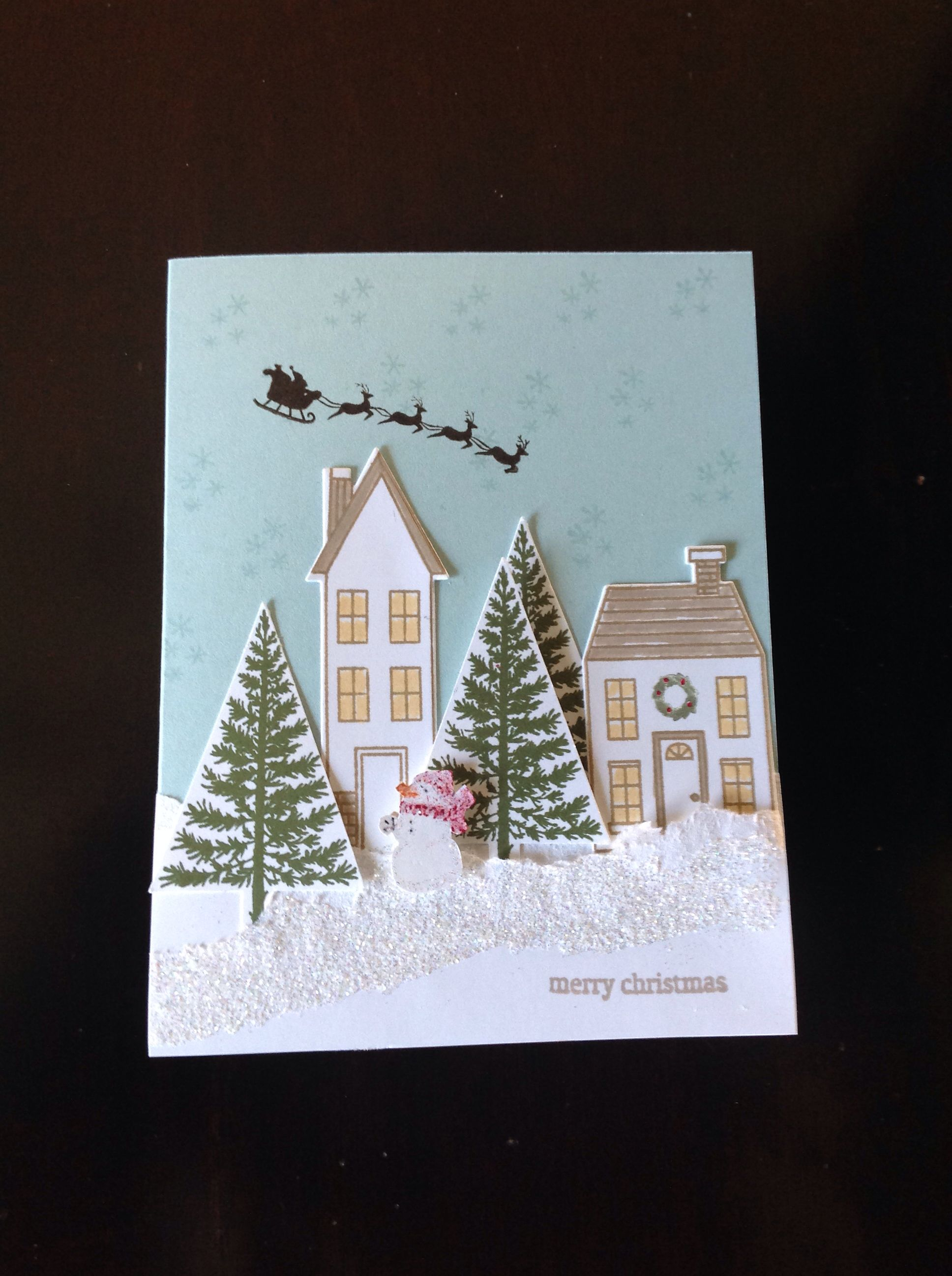 Festival of Trees stamp set and matching punch. Holiday Home and matching framelits by Stampin'Up!
