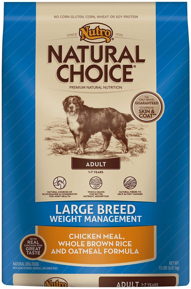 Nutro Natural Choice Large Breed Weight Management Adult Chicken