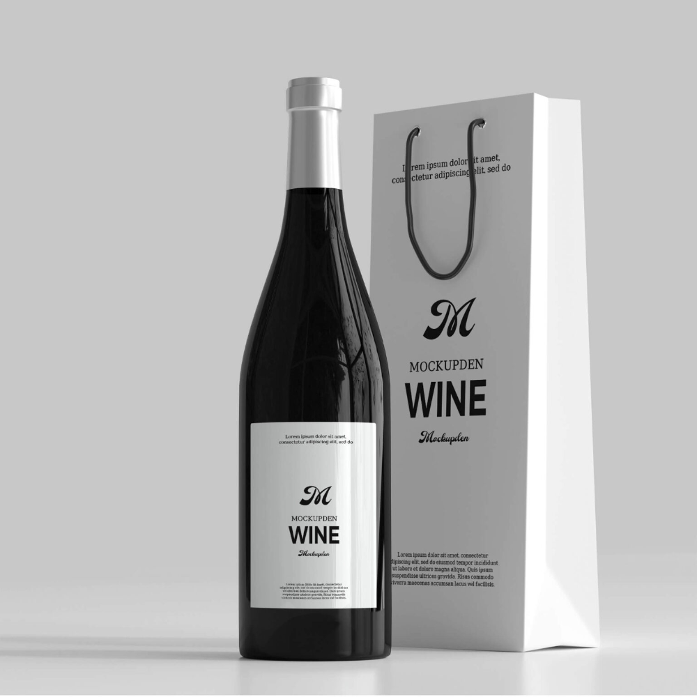 Download Wine Bag In 2021 Bag Mockup Wine Bag Free Wine