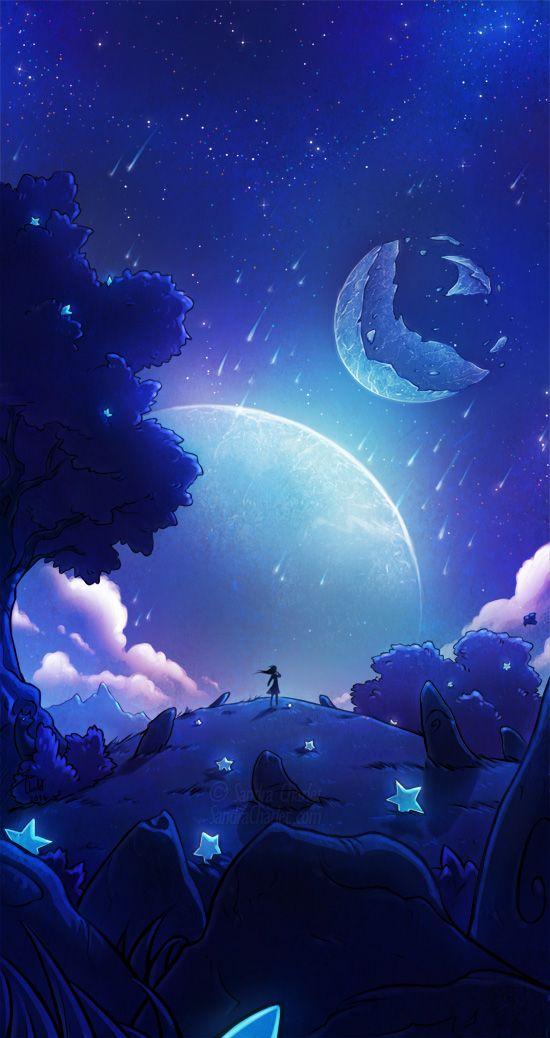 Falling stars by SandraCharlet on DeviantArt